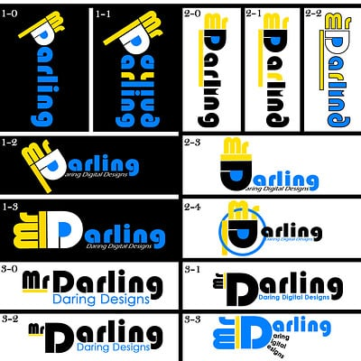 Christopher royse darling mr darling word logo 1 type concepts