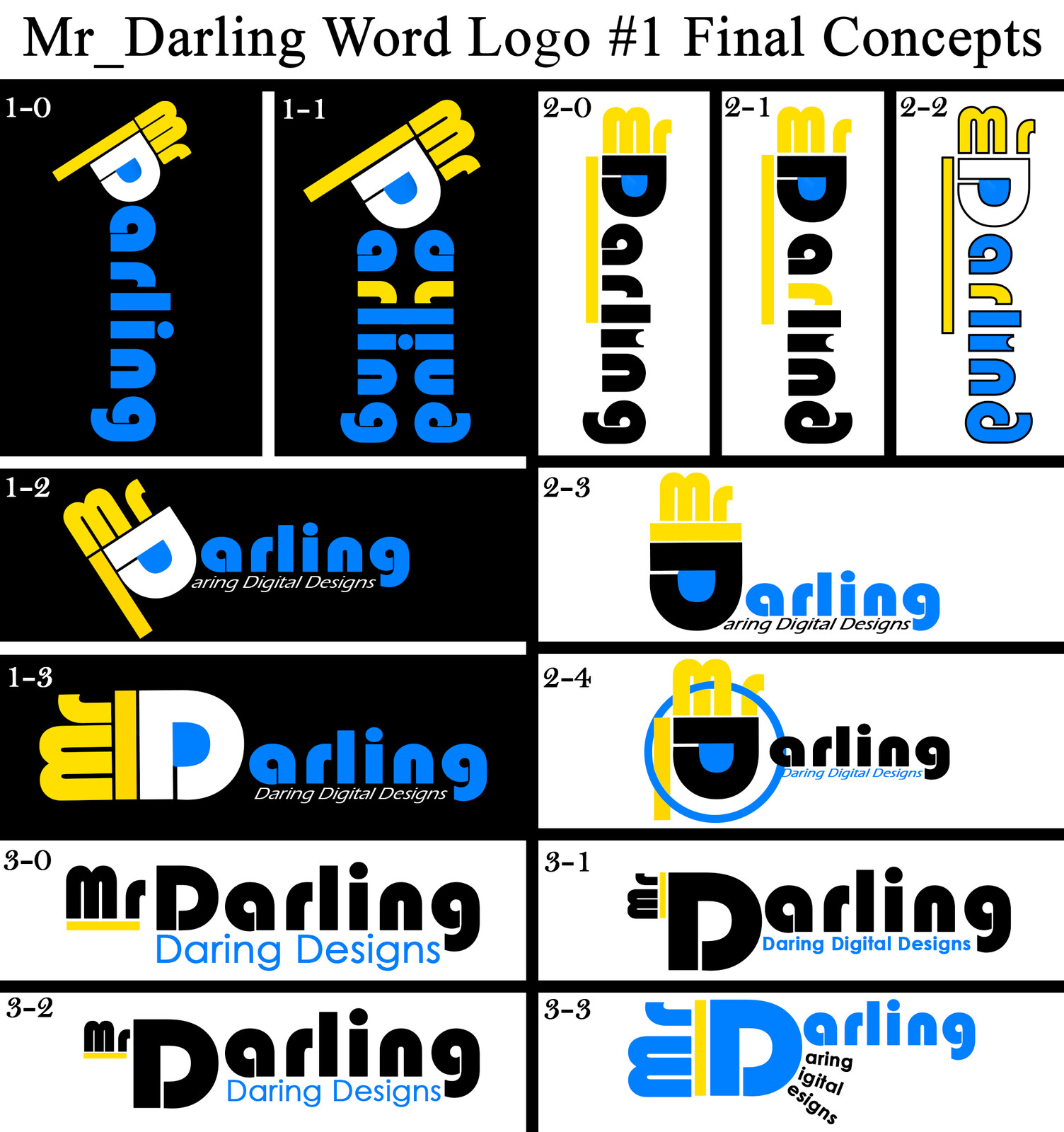 Second Round of Mr_Darling Logotype Concepts