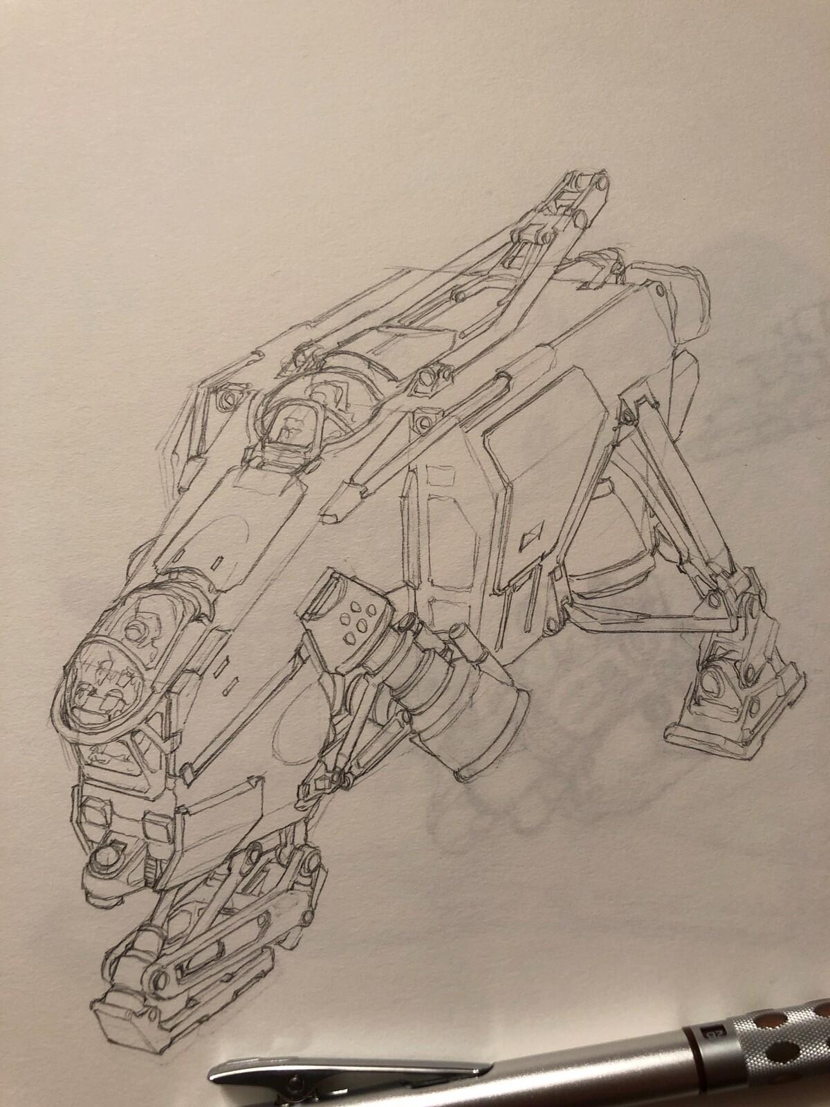 Pencil sketch.