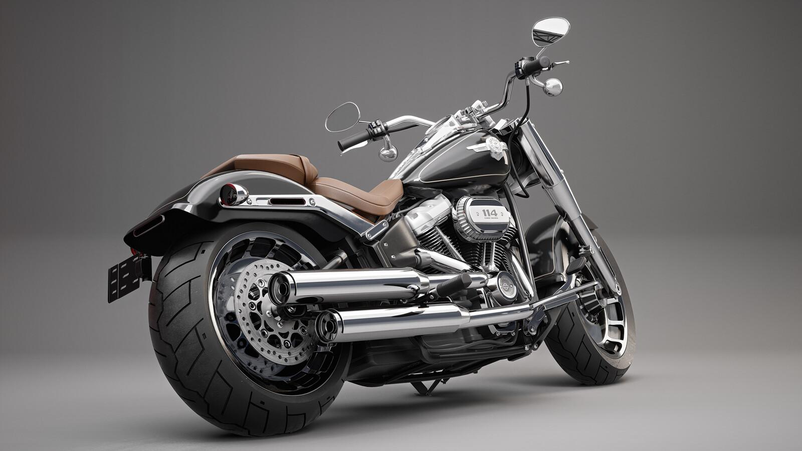 "Harley Davidson ""Fatboy"" - Studio Lighting"