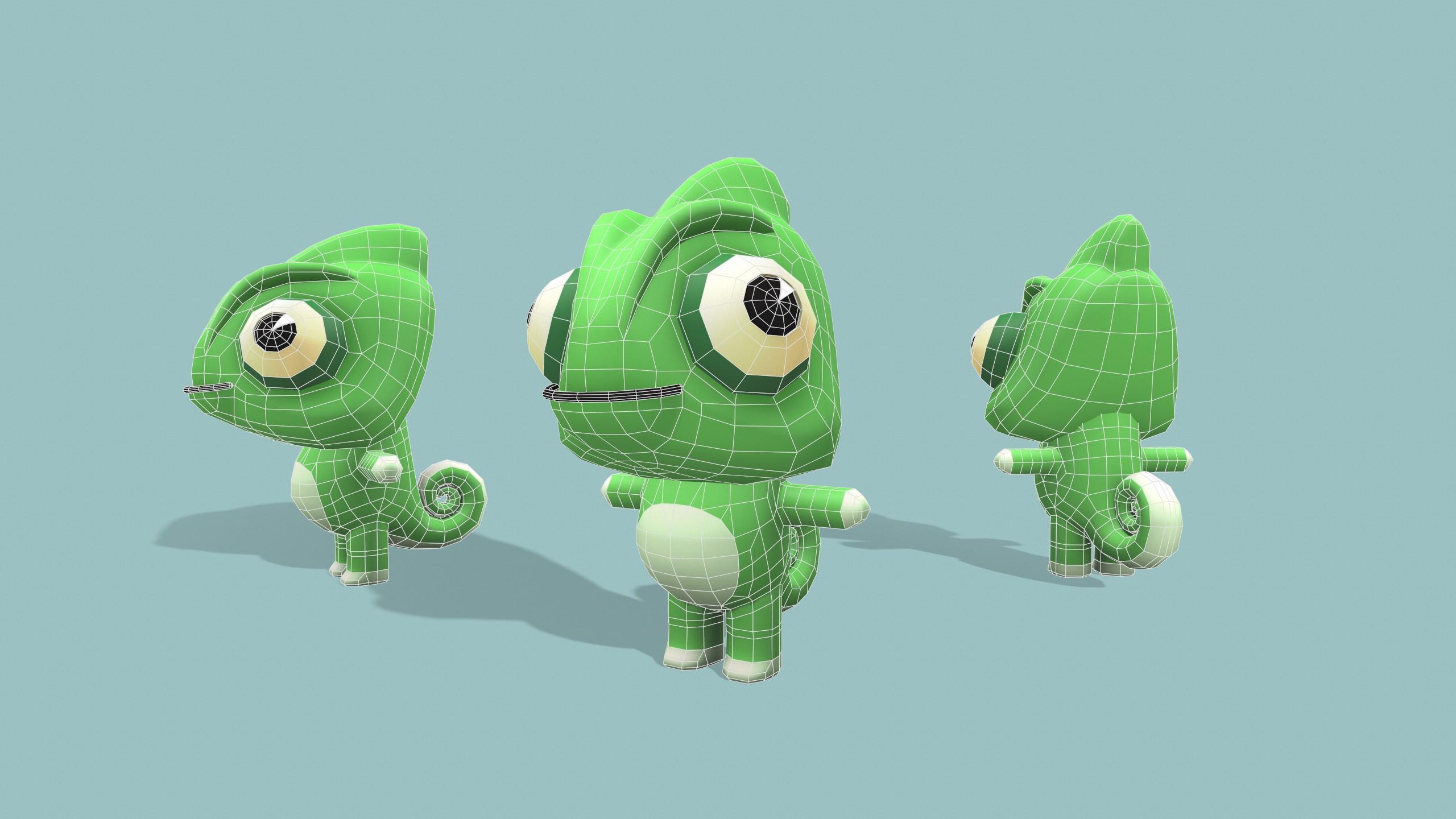 Chameleon wireframe