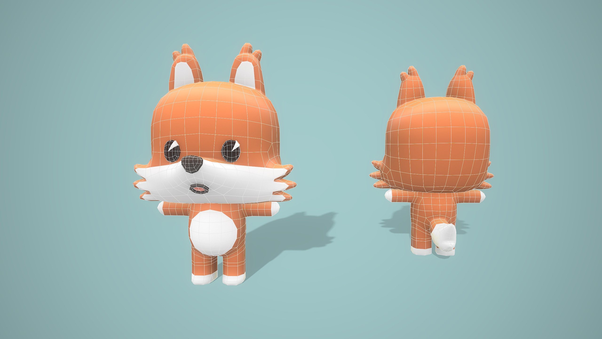 Fox wireframe