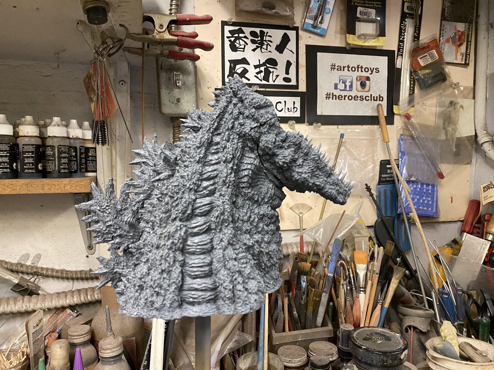 Shin Godzilla Bust  Art Statue シンゴジラ第四形態胸像 完成品 https://www.solidart.club/
