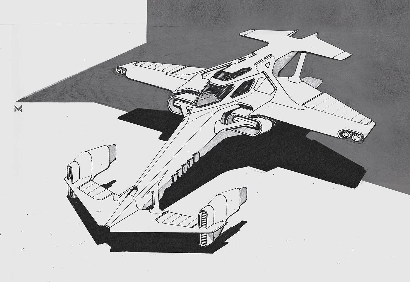 Spacecraft 'Swordfish II' - inspired by the anime series 'Cowboy Bebop'