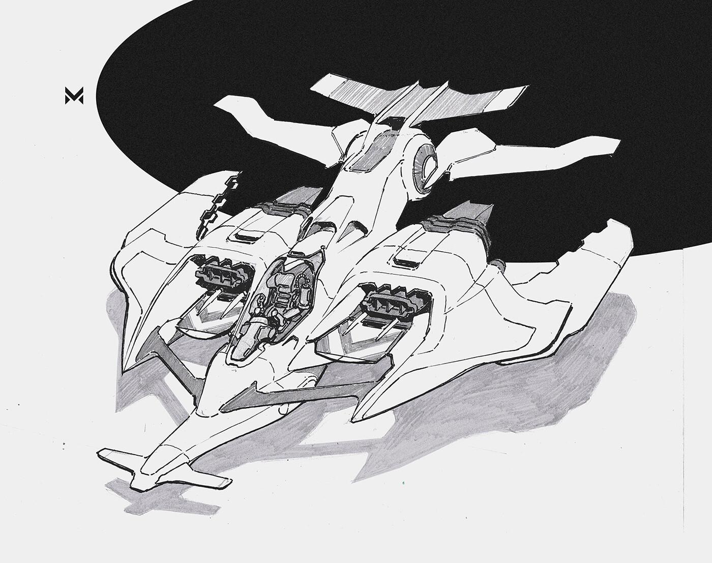 Spacecraft concept - agile light fighter