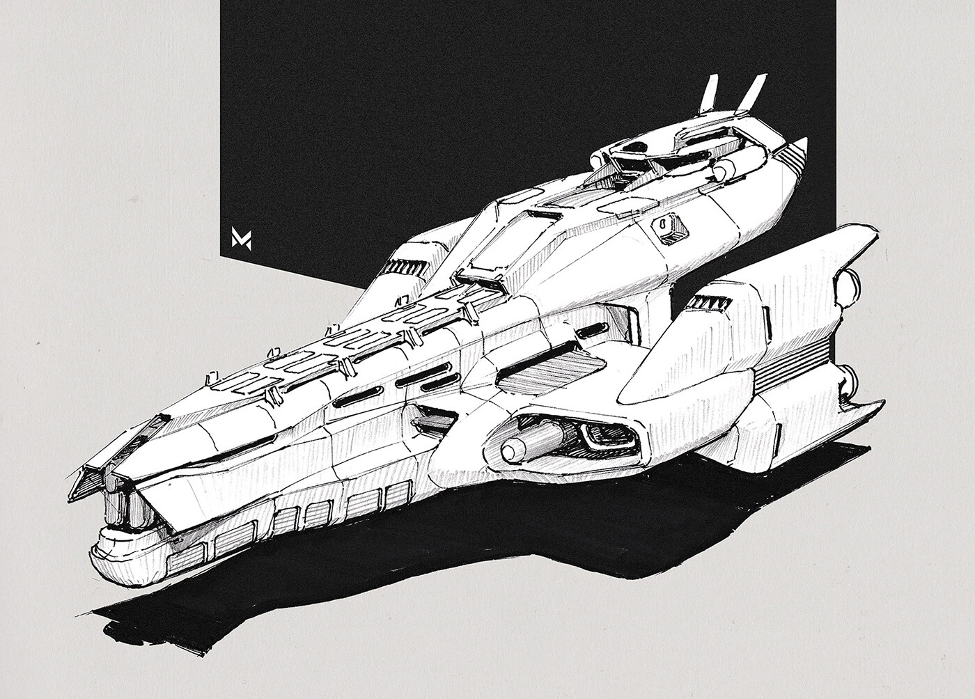 Spaceship 'Nagata' - cruiser class