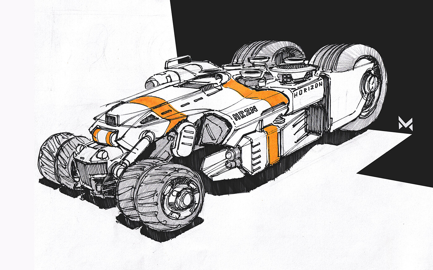 Powermachine - inspired by the game 'GRIP: Combat Racing'