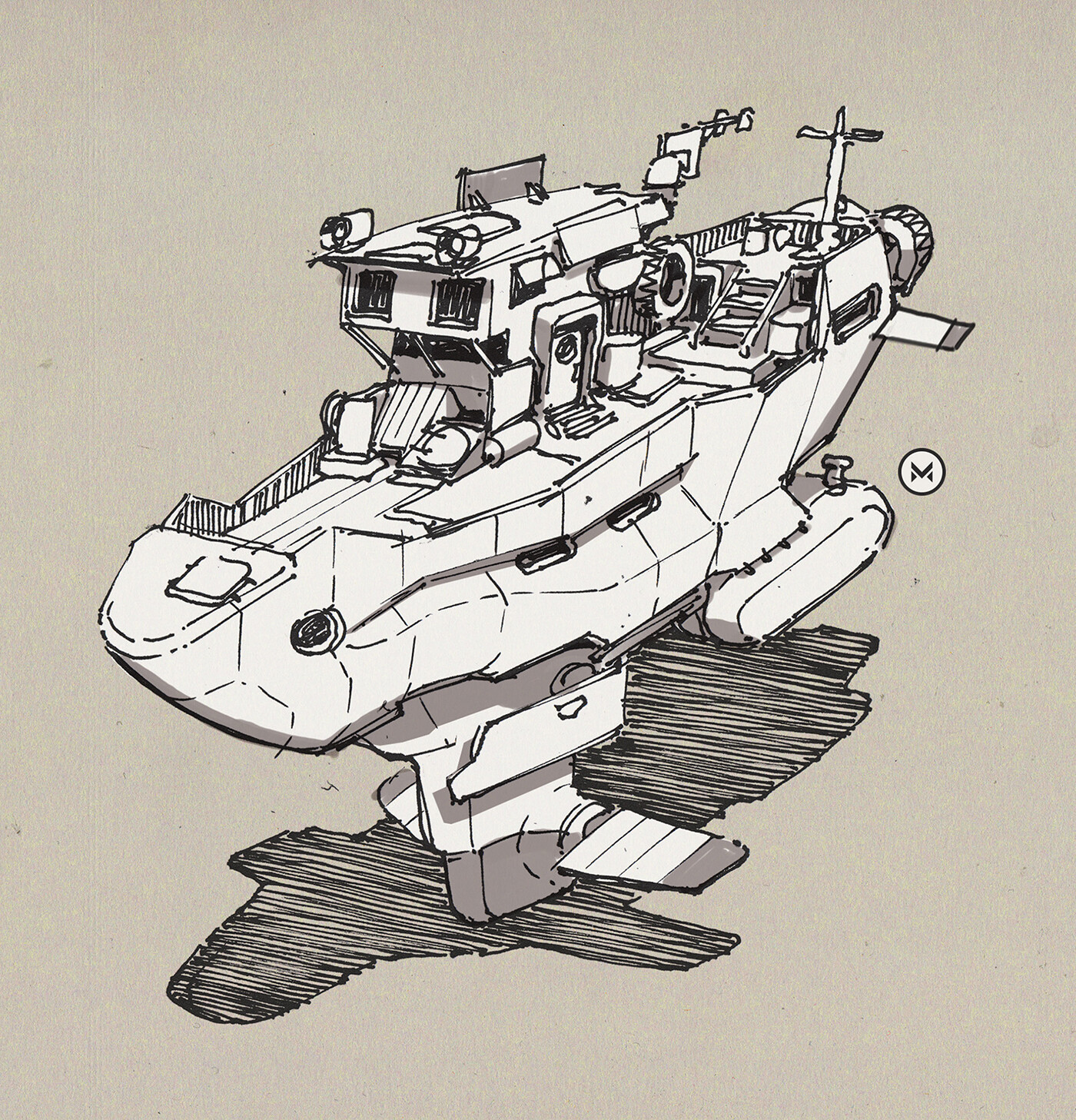 Hovercutter - inspired by the artist Ian McQue