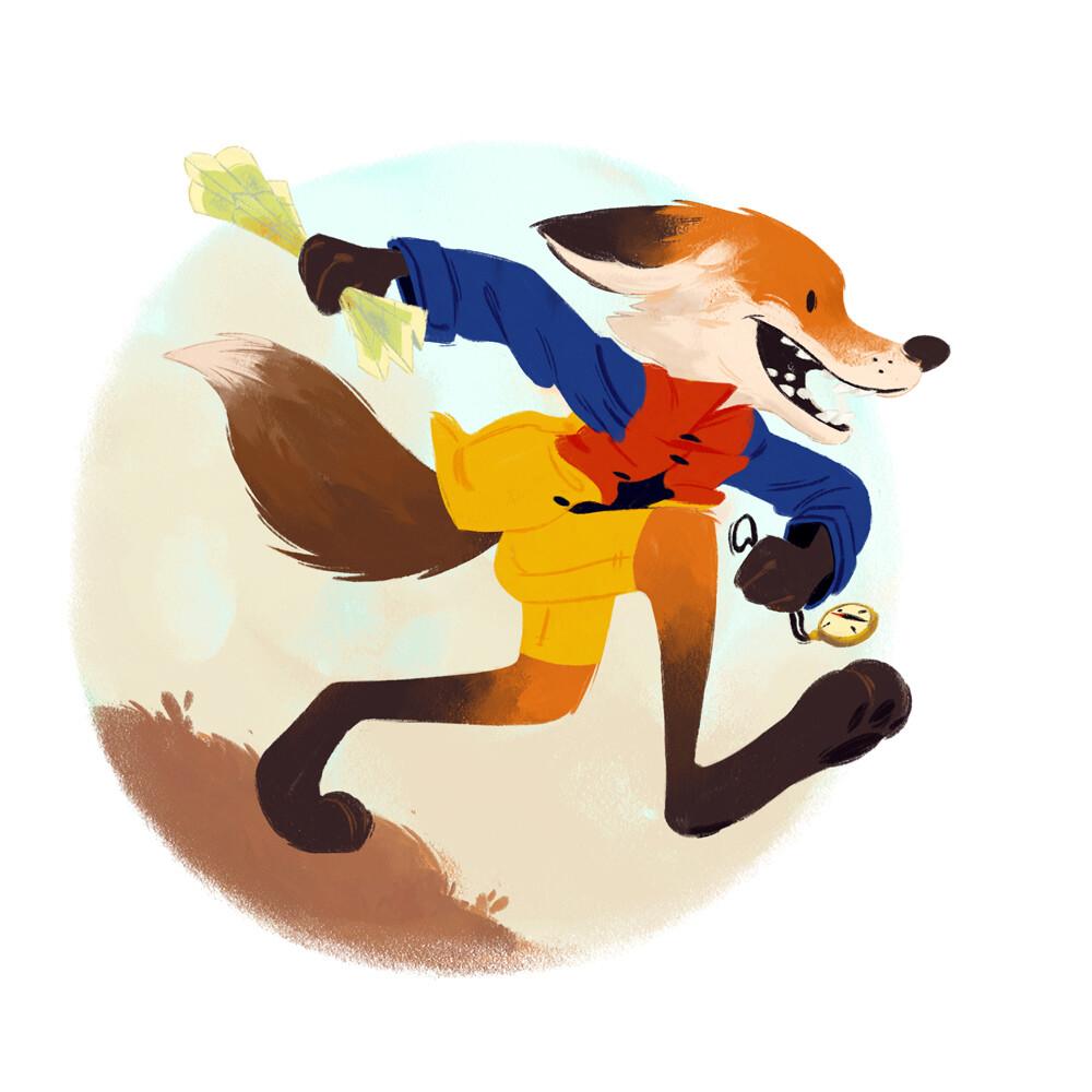 Fox Adventurer - Character Design Challenge