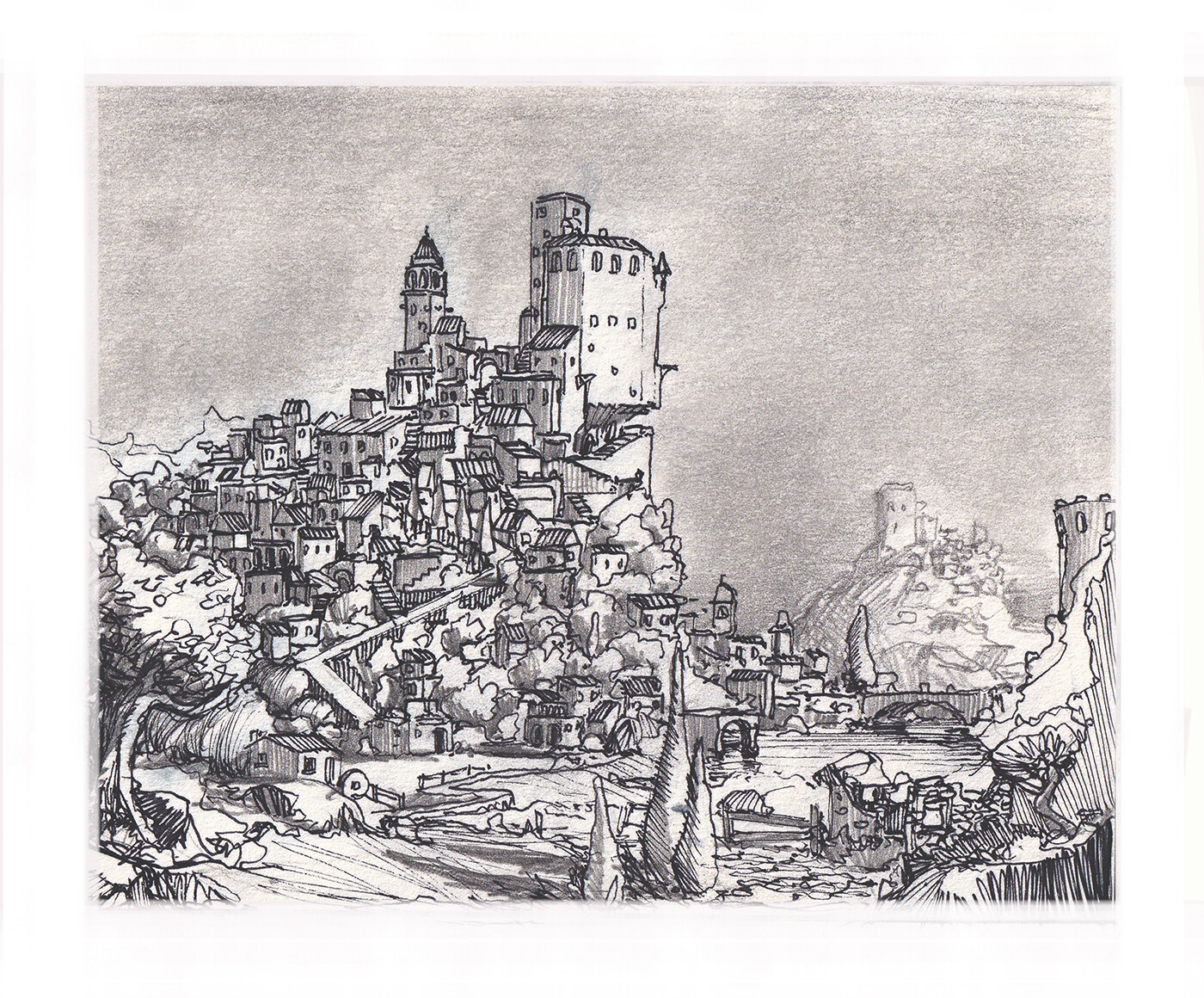 Hill-Castle - a study of mediterranean landscapes