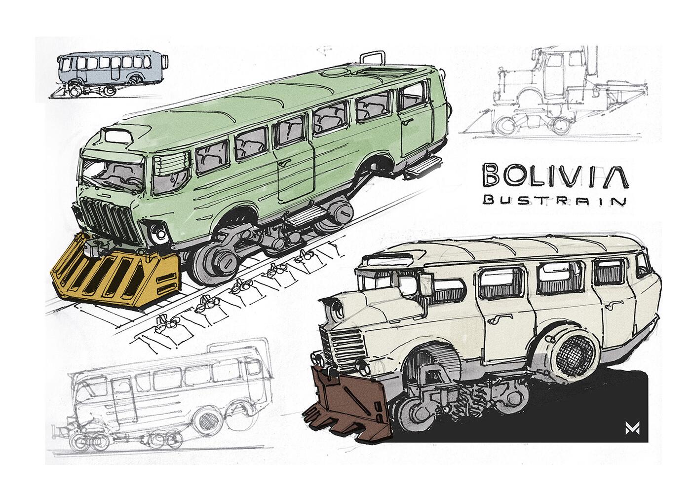 Railway-bus concept