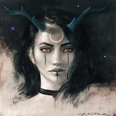Oliver wetter luna dreaming horns portrait