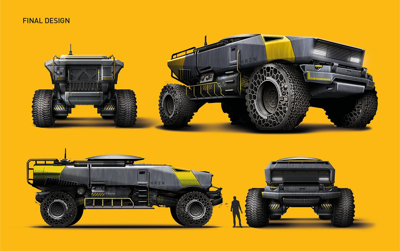 Explorer vehicle - final renderings