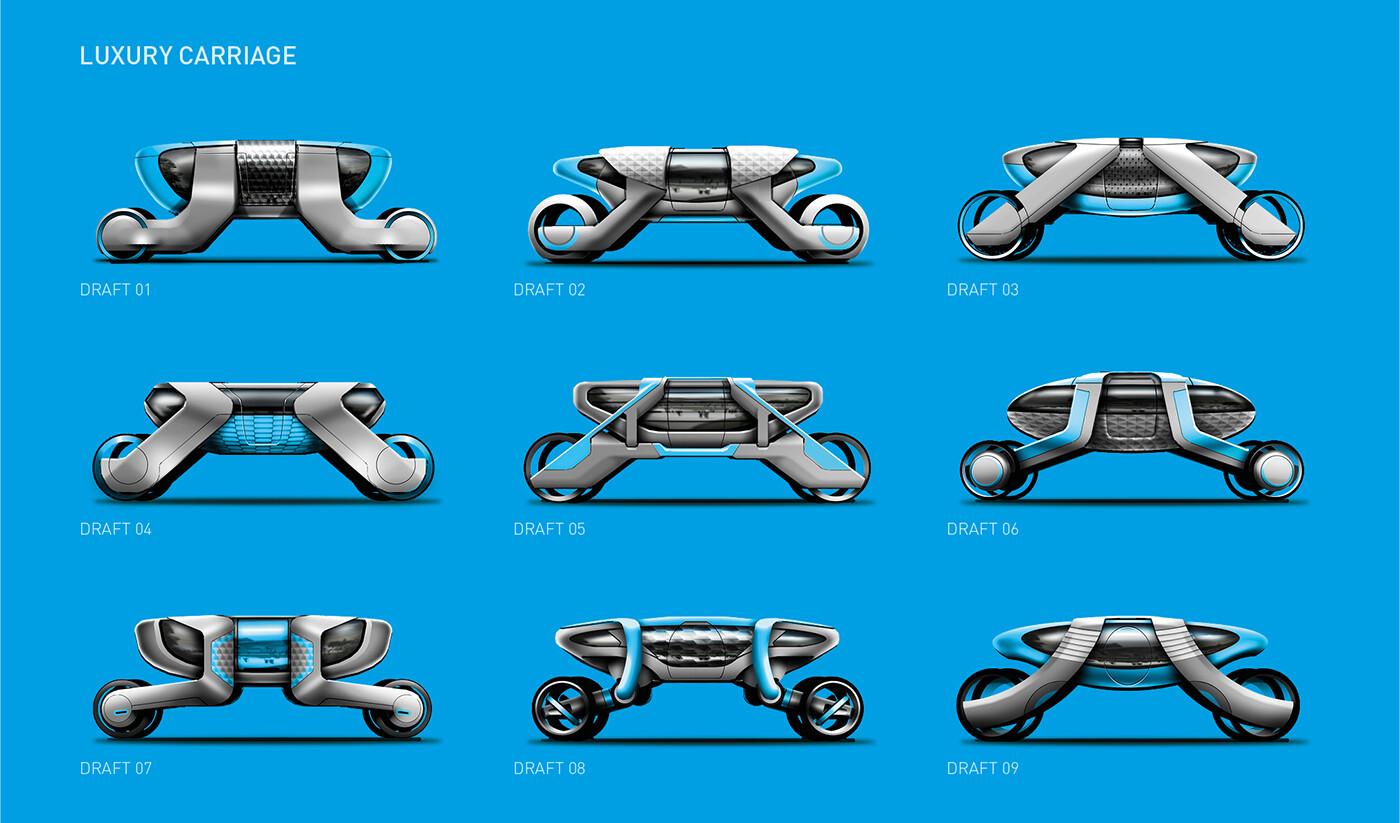 Autonomous carriage - design drafts