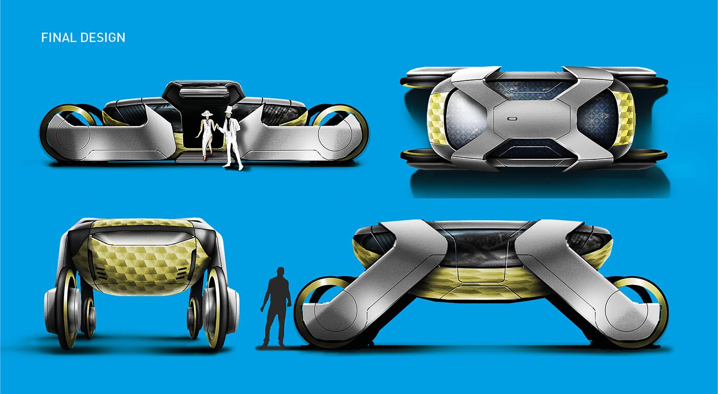 Autonomous carriage - final rendering