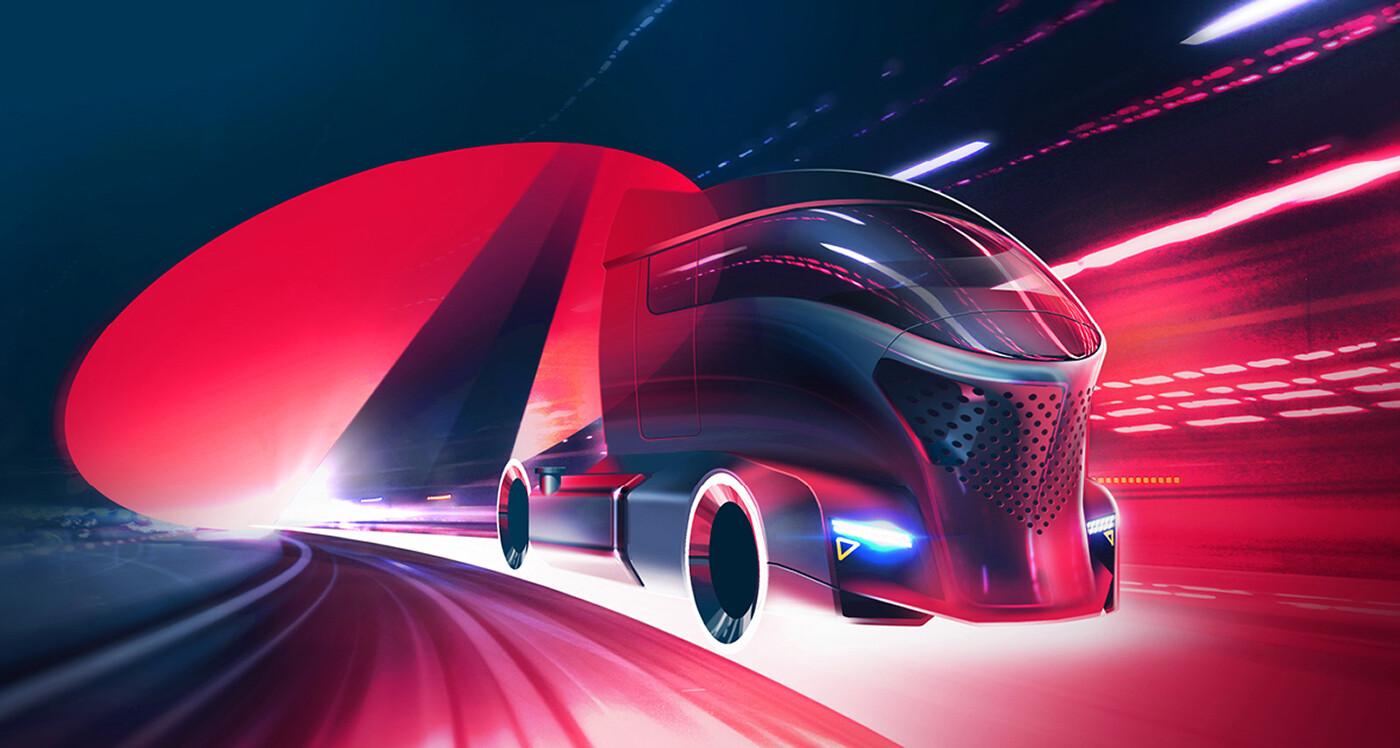 Futuristic truck concept keyvisual
