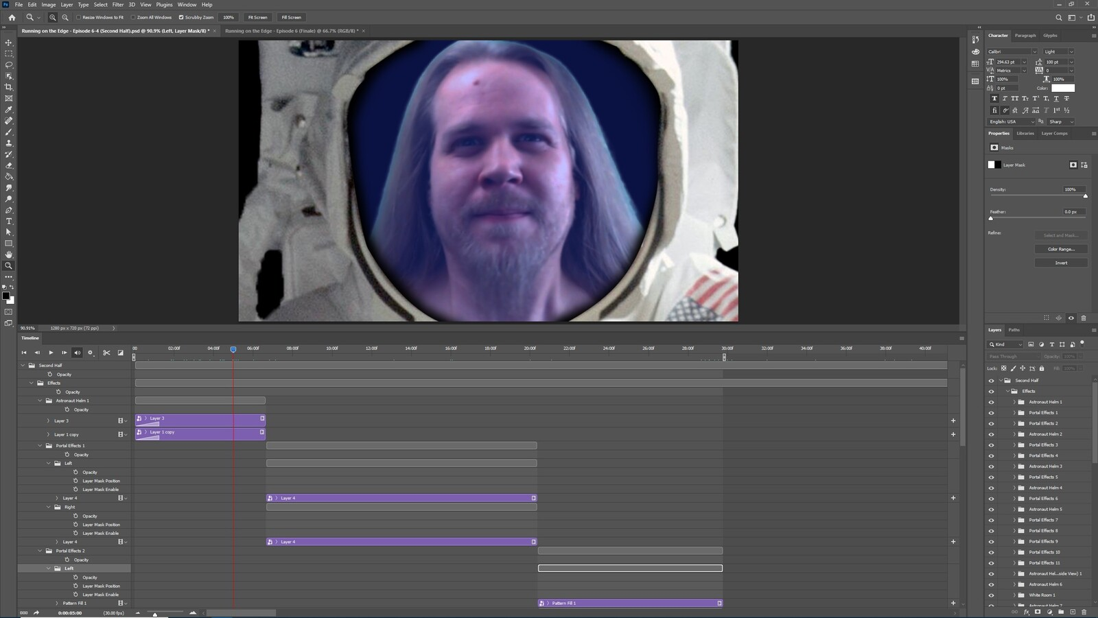 """The """"2020: A Time Oddity, Part 1"""" visual effect within Photoshop video editor"""
