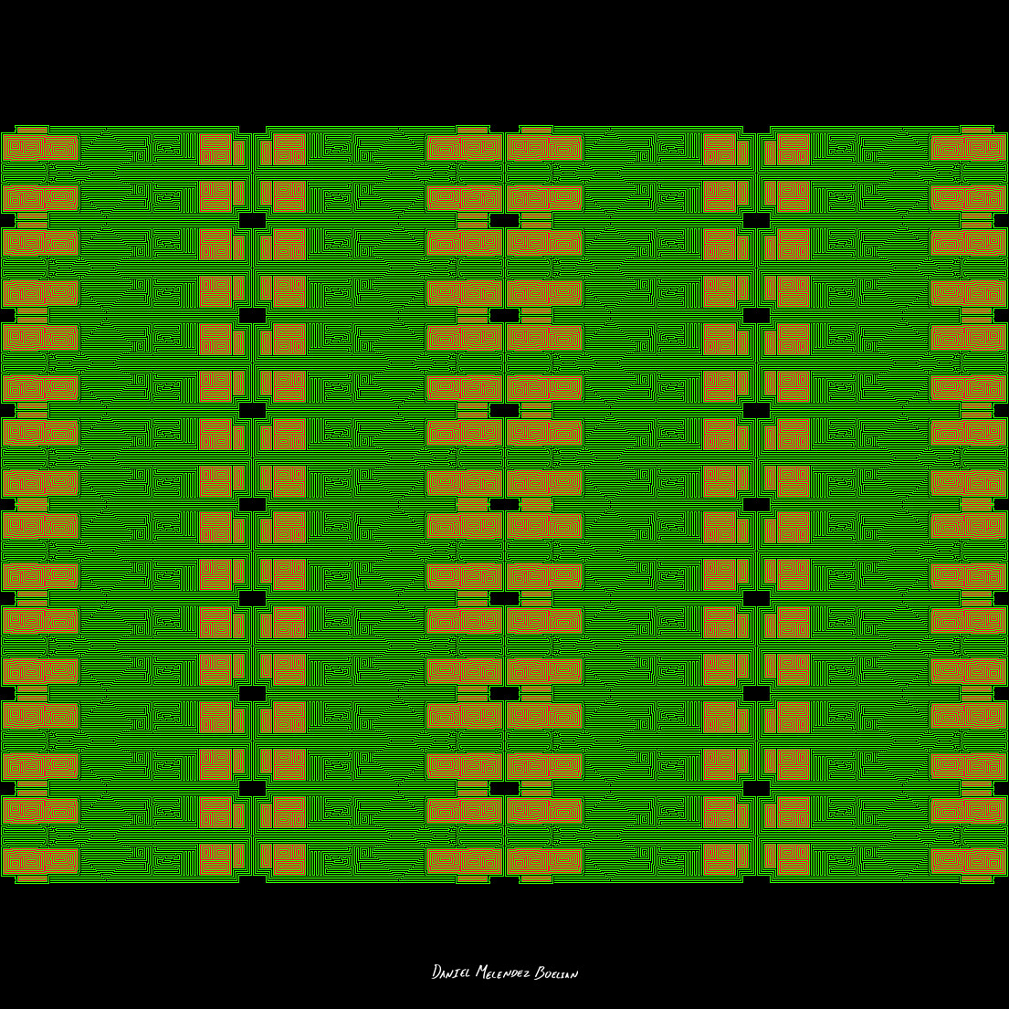 A motherboard like pattern