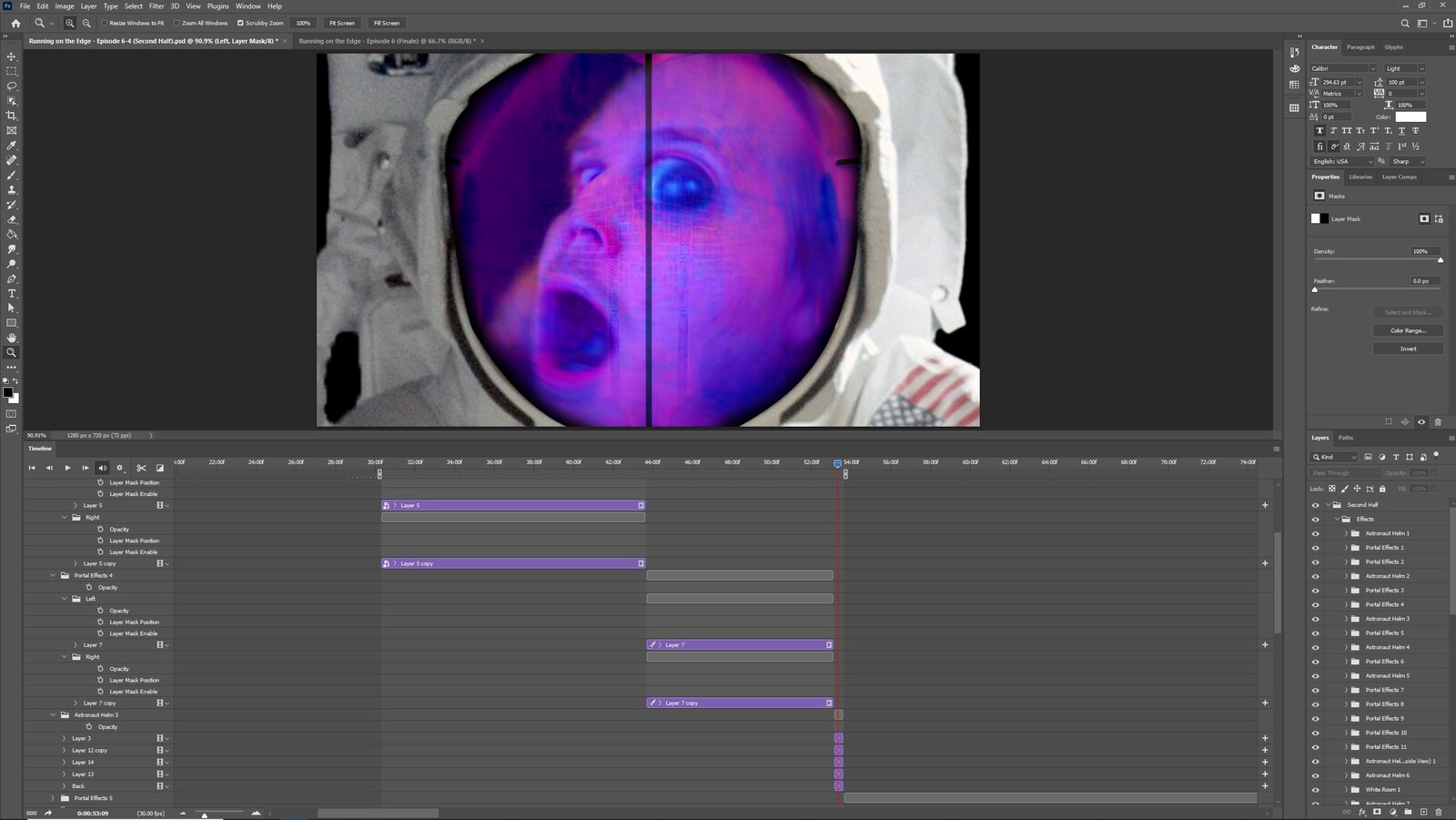 """The """"2020: A Time Oddity, Part 2"""" visual effect within Photoshop video editor"""