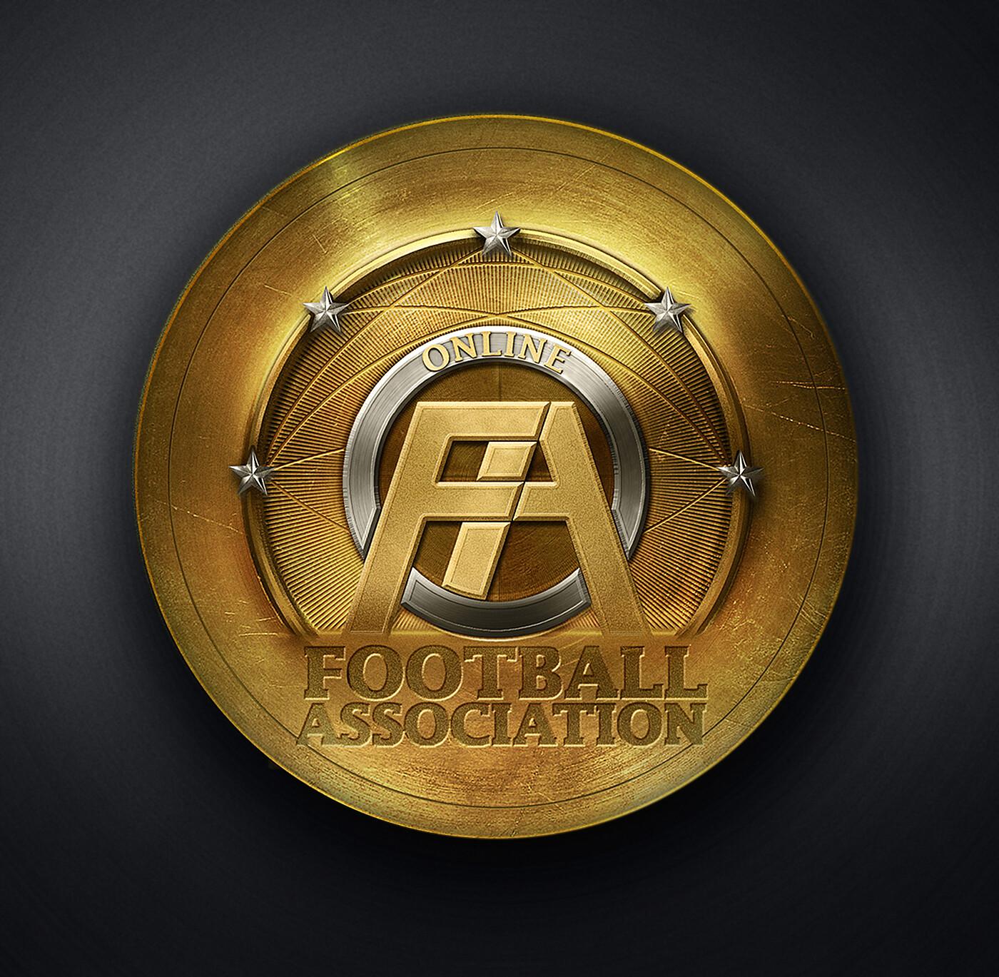 OFA - Online Football Association - logo illustration