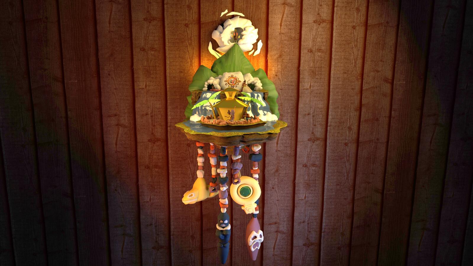 Taíno Cuckoo Clock