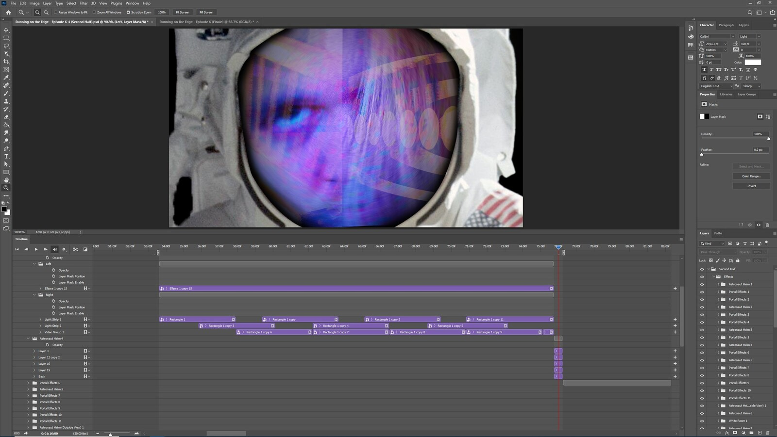 """The """"2020: A Time Oddity, Part 3"""" visual effect within Photoshop video editor"""