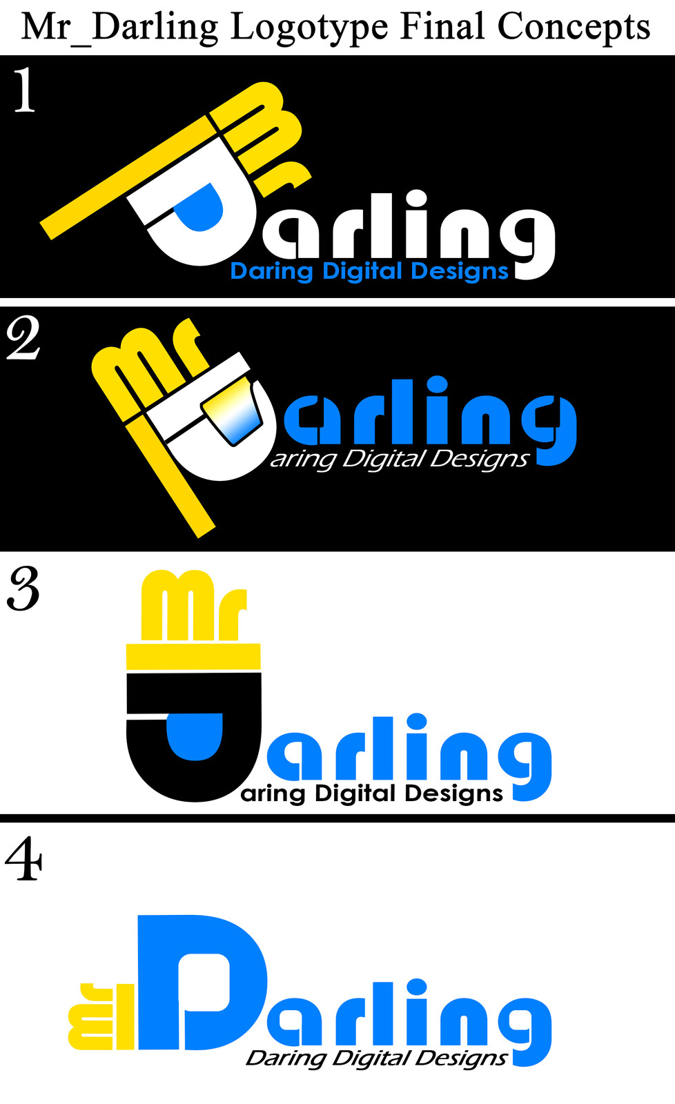 Third Round of Mr_Darling Logotype Concepts