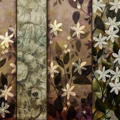 Waterlili jia 54 mixed art ii 24x36 orig