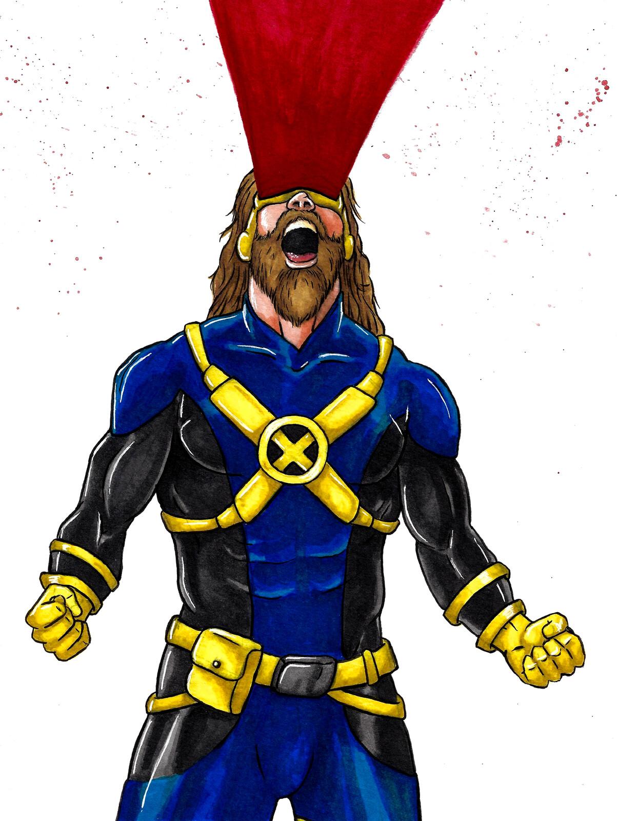 Cyclops, X-men fan art