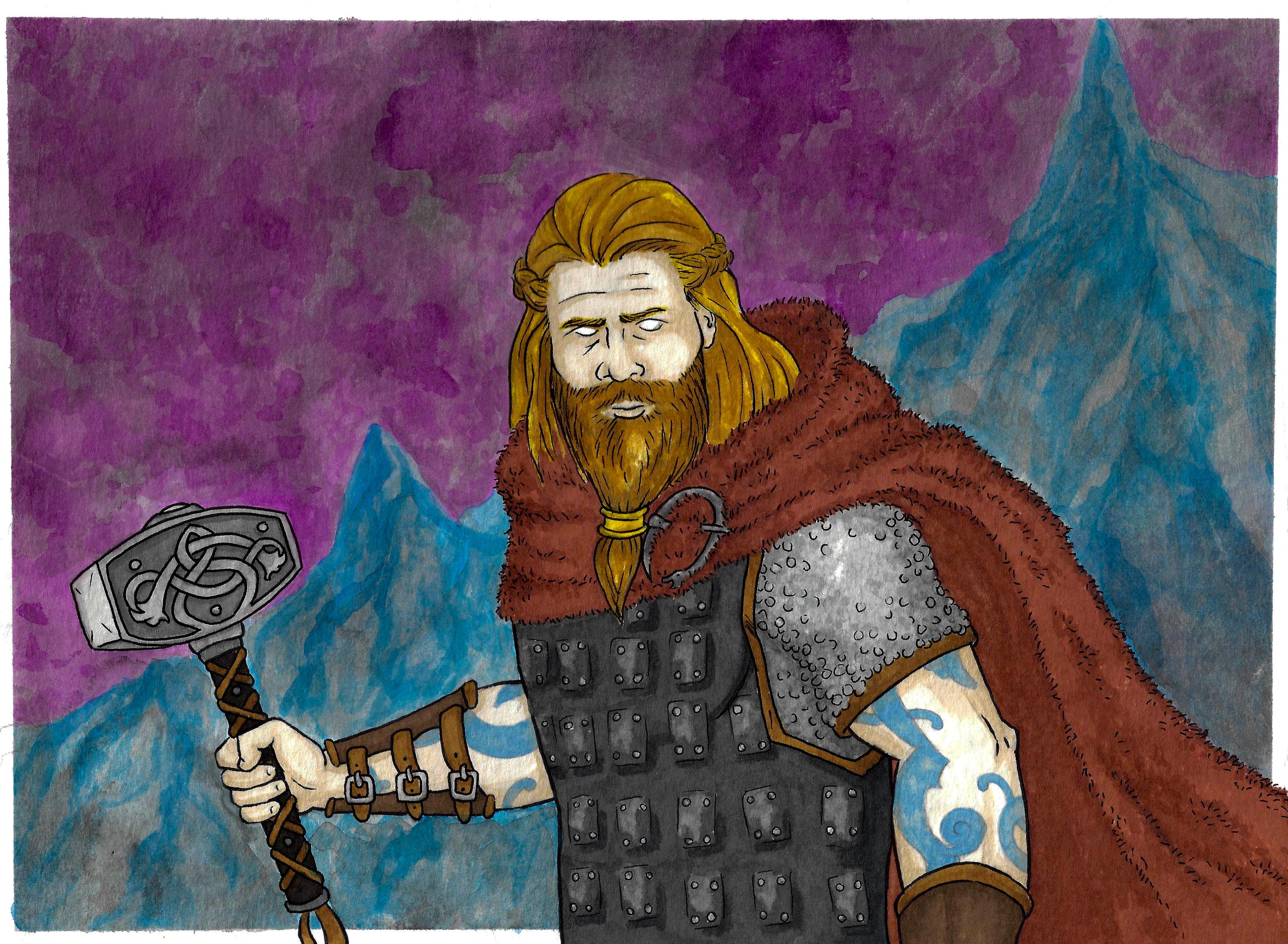 Thor, fan art. Original costume design