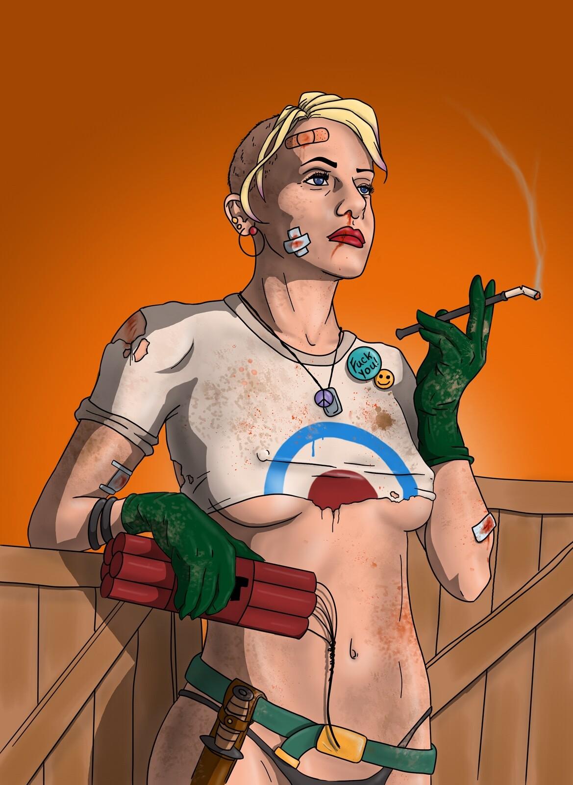 Tank Girl, fan art