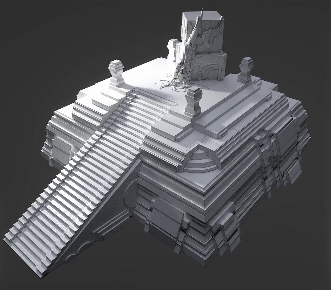 Main 3D asset, modeled in Blender