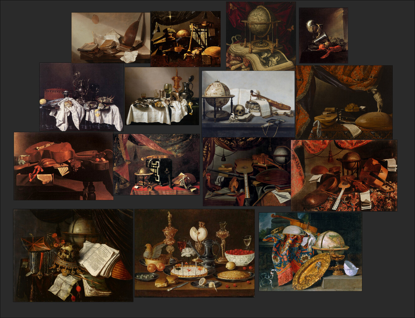 some paintings used as reference