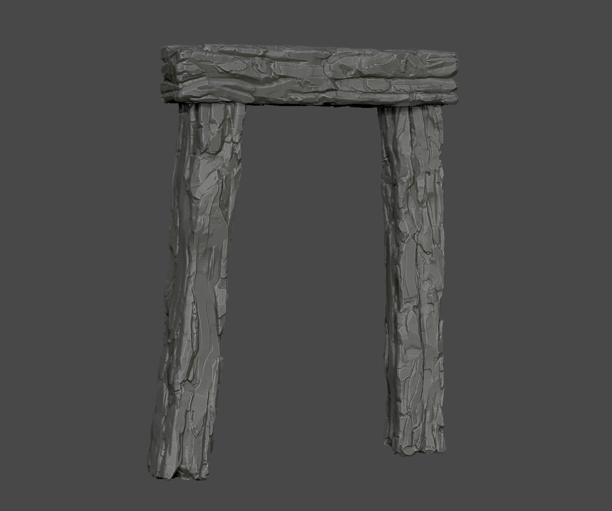 Wooden beams High-poly