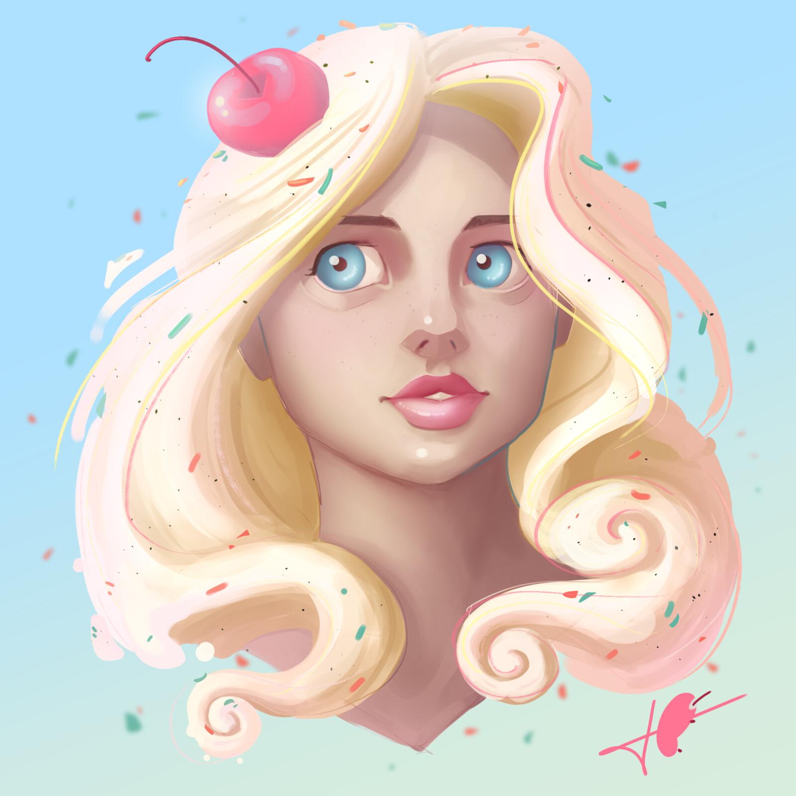 Ice Cream Portrait