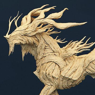 Hao s creatures 2020 forestdragonhorse sketch 01 zoom