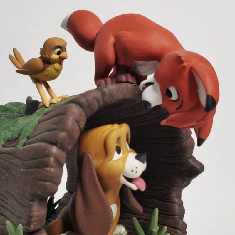 Fox and the Hound Figurine