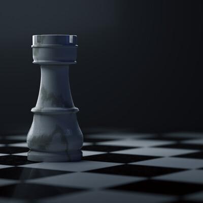 Simon pasquesi chess piece render