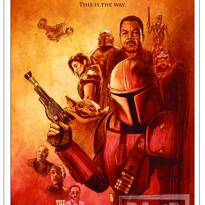 Paul butcher a3 mando western poster etsy