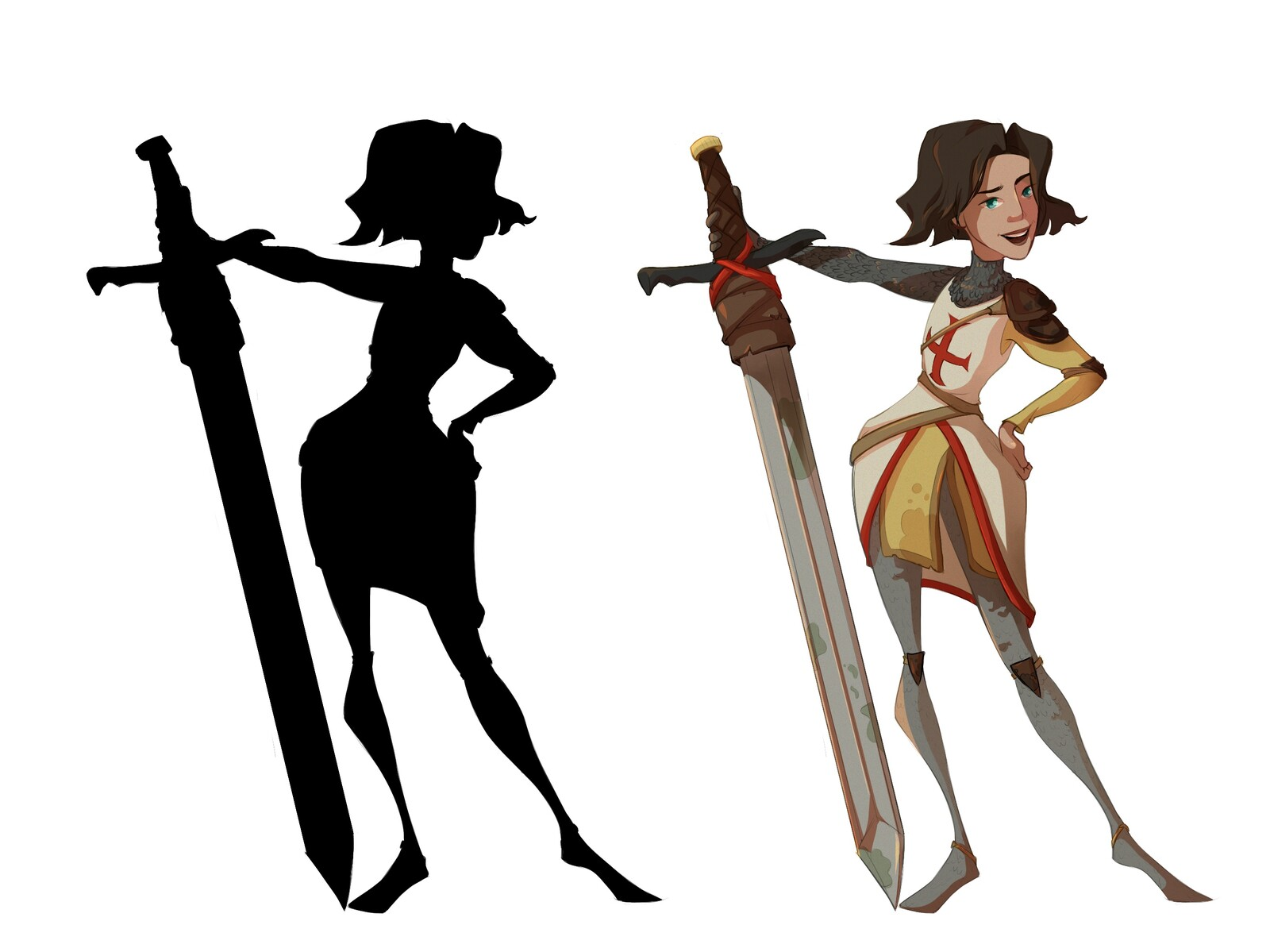 Female Crusader Character design