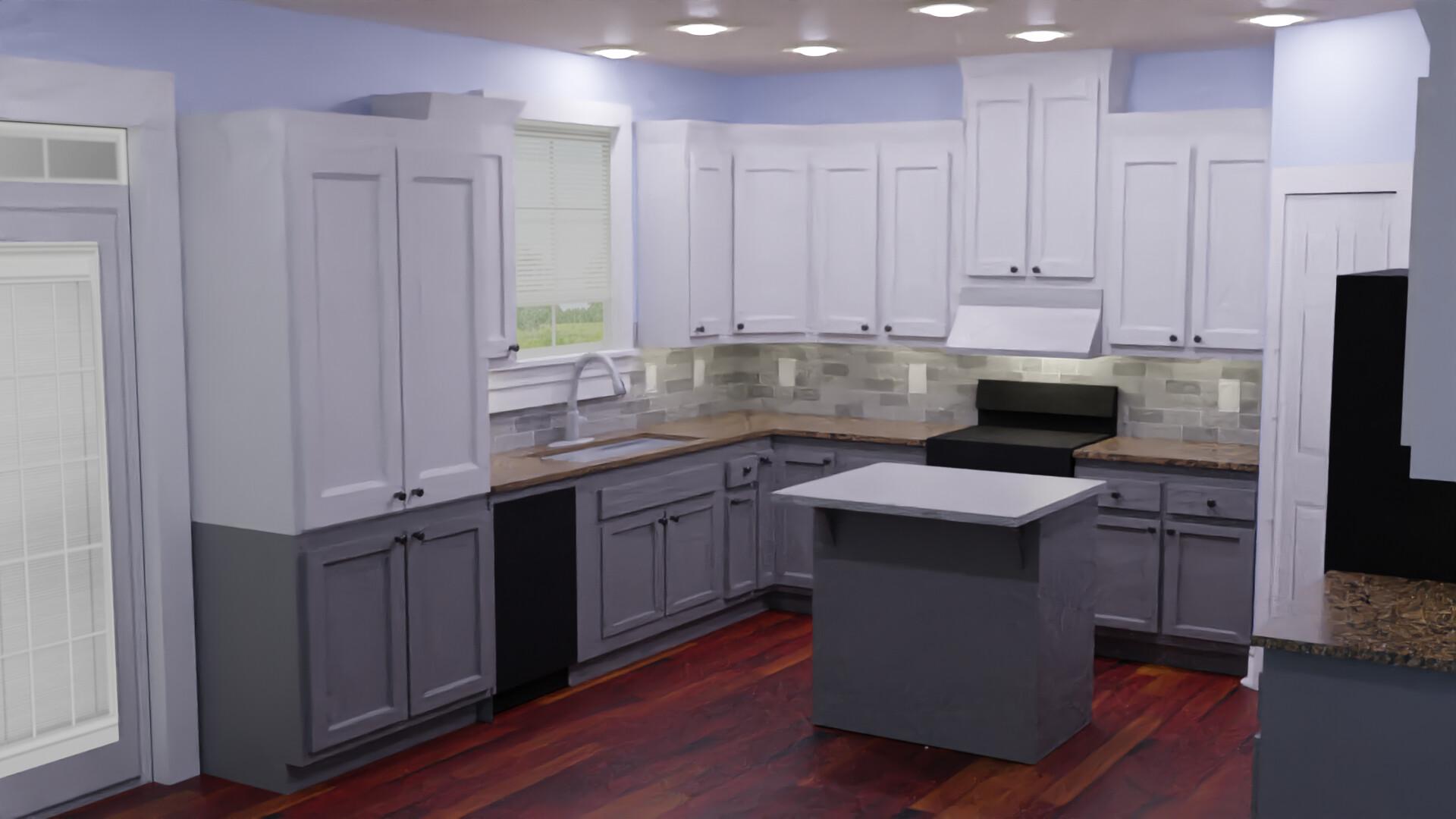 Artstation Kitchen Remodel Visualization Jack Crawford