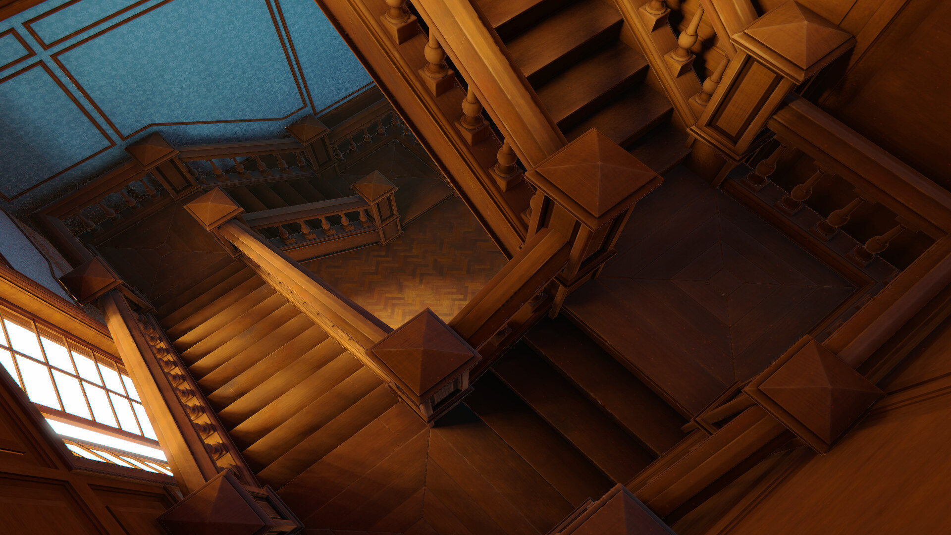I hope you like it this basically my first personal environment model the main idea was just create a modular stairs for practice and end up with an entire interior