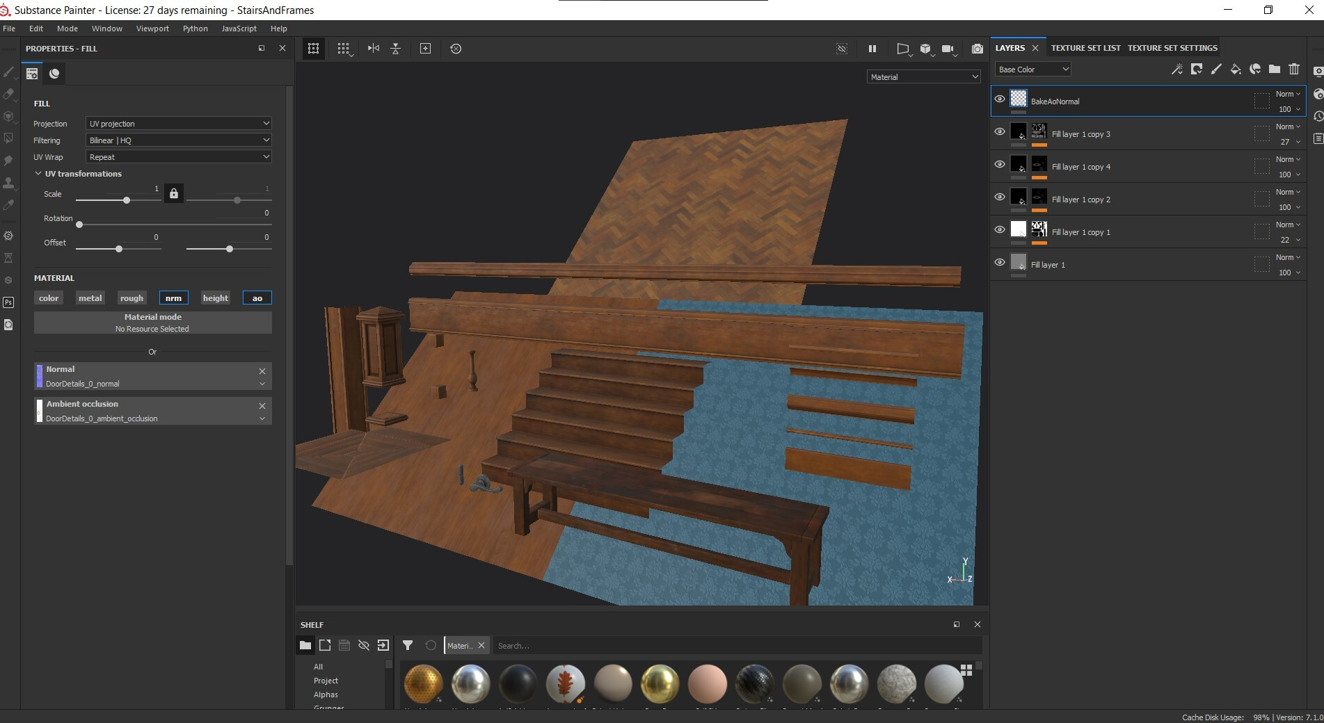 All textures are created on Painter including the seamless one