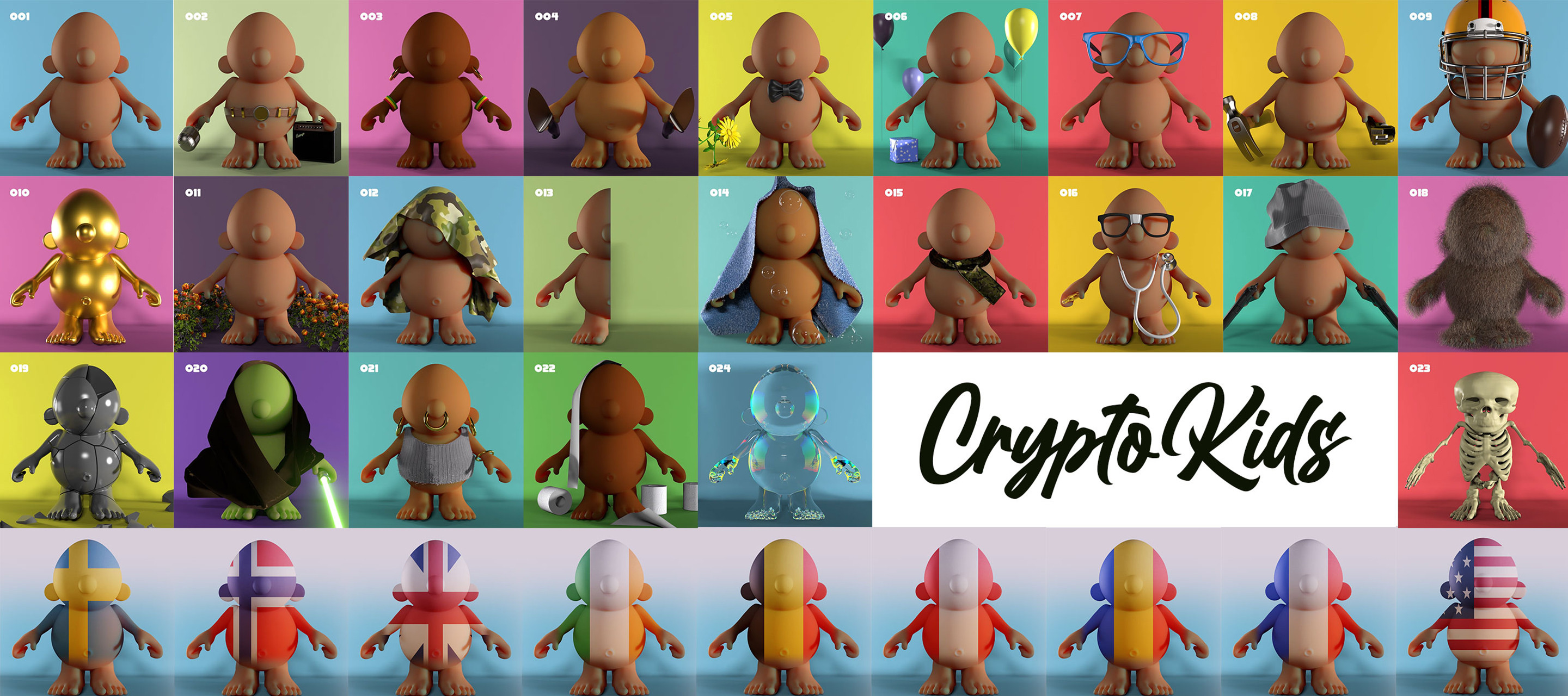 CryptoKids™ Kids having fun in the Ethereum blockchain. 24 unique and rare NFTs Collectibles available for pre-order or bids.  https://opensea.io/collection/crypto-kids-nft/
