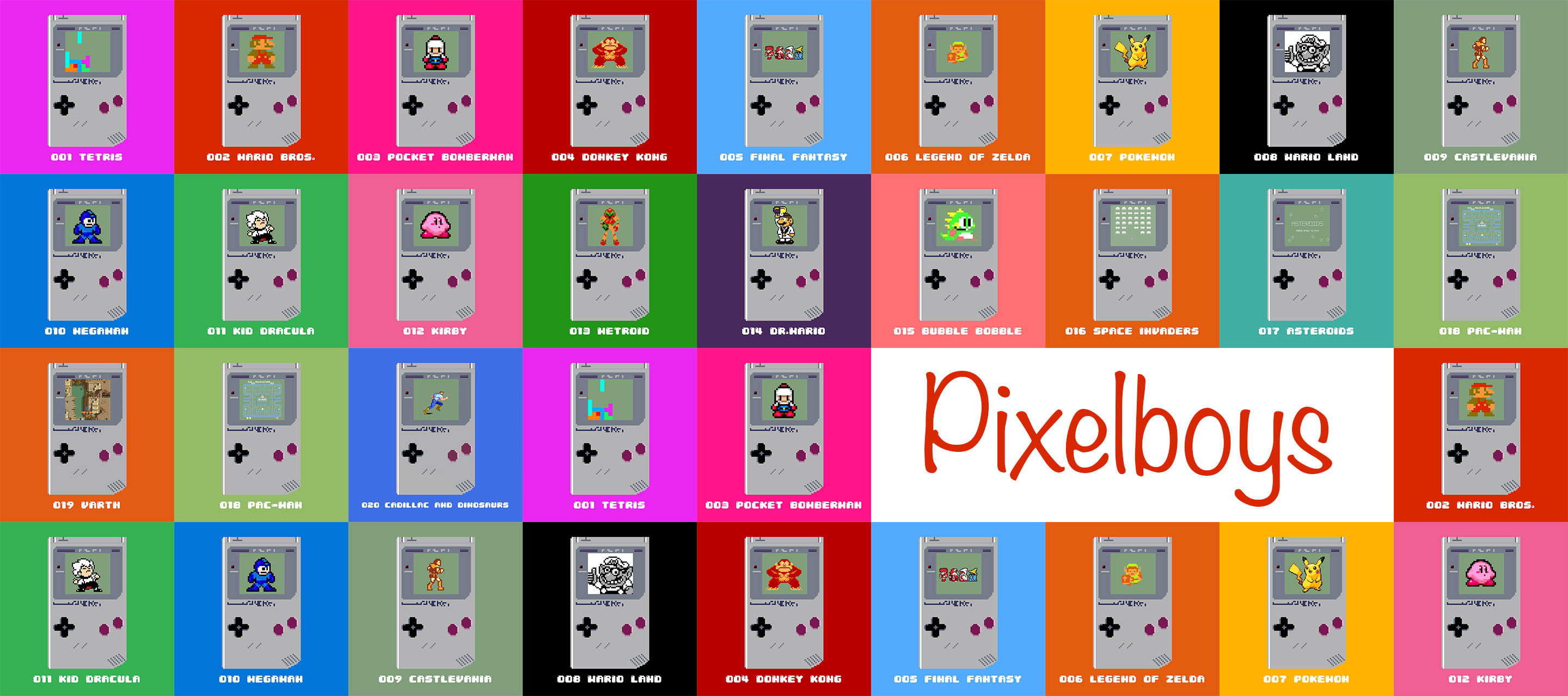 PixelBoys is a small collection of the most famous GameBoy's game from the 90s  https://opensea.io/collection/pixelboy/