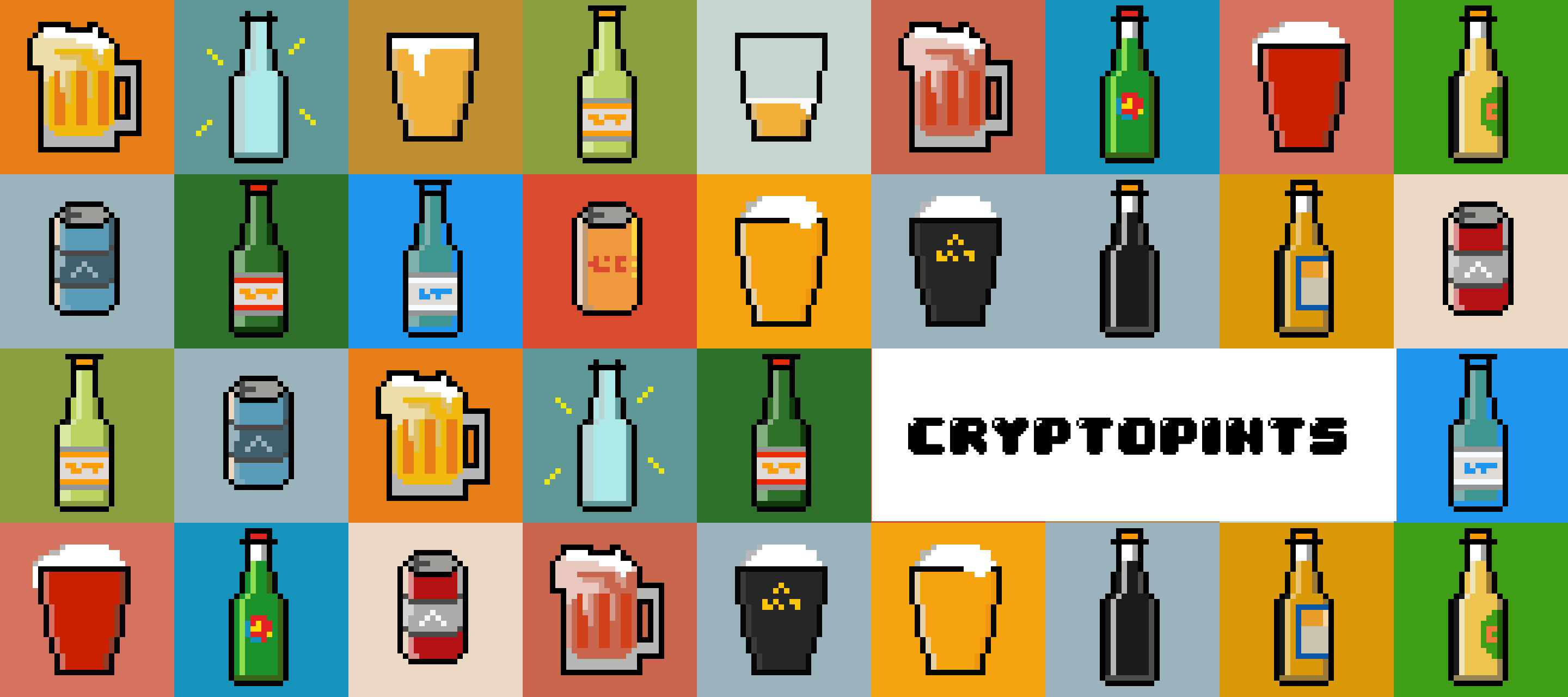 CryptoPints is the the best selection of beers on the Ethereum planet. Fresh and genuine! They come in all flavours in a can, a bottle and in fancy glasses!  https://opensea.io/collection/cryptopints/