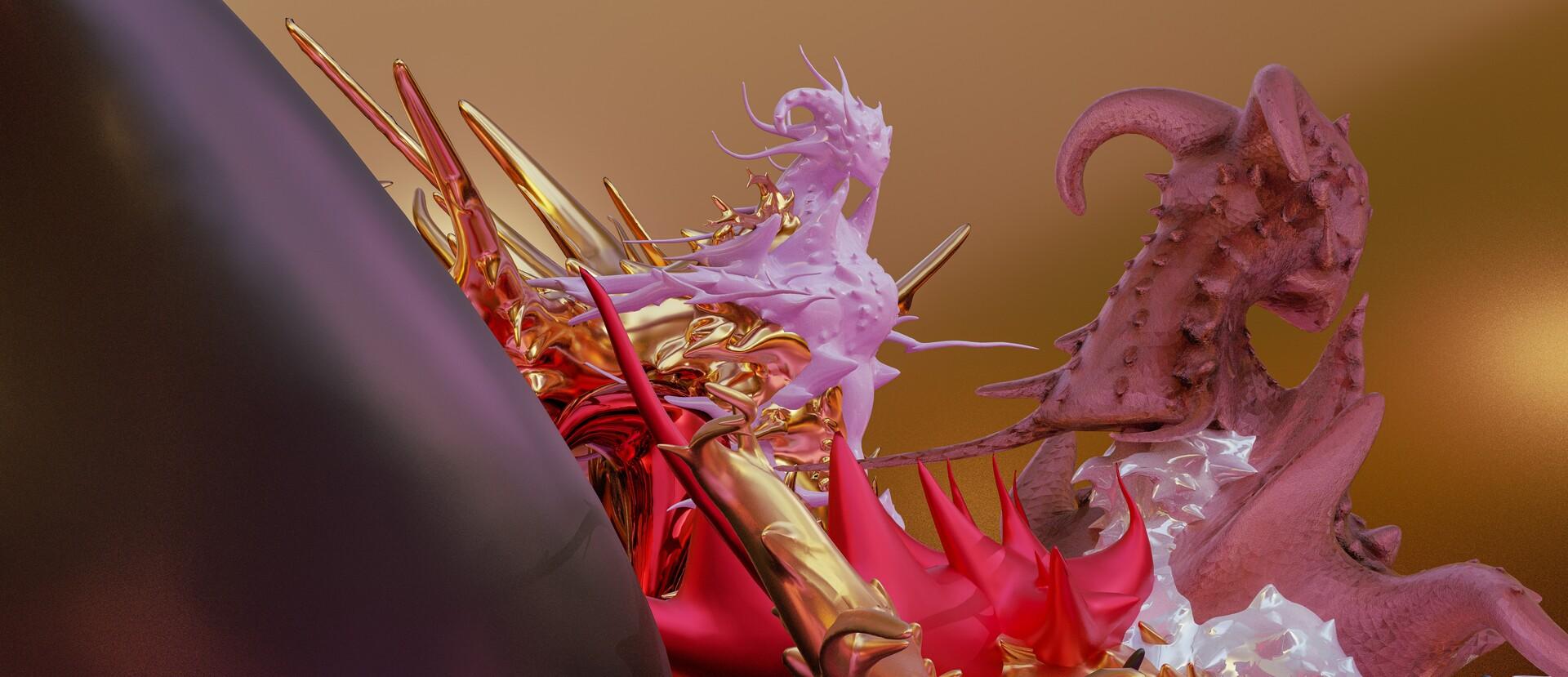 Ephemethereal Psyfi fantasy Creatures mirror matte Gold Aesthereal