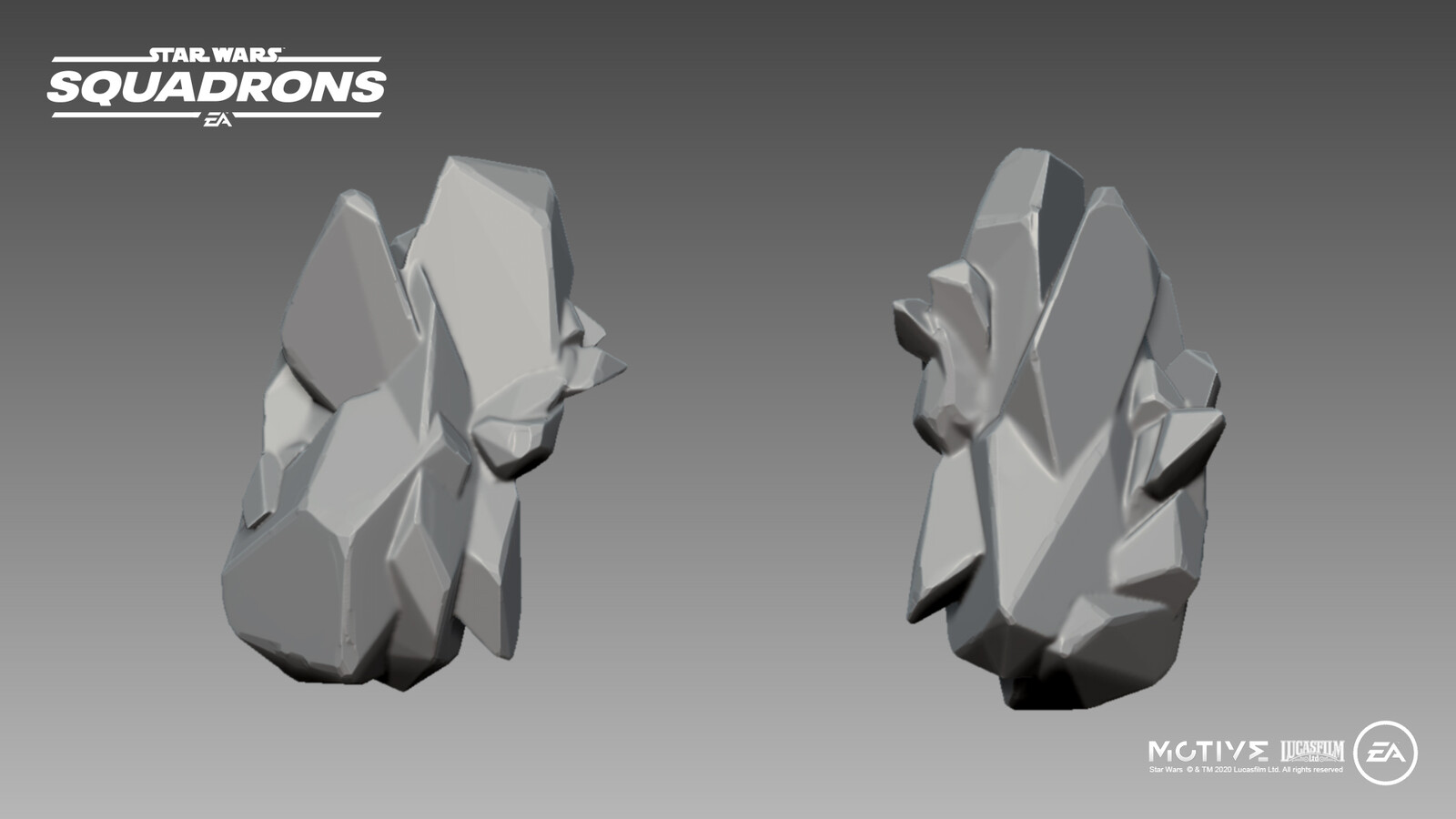 Zbrush sculpted crystal for the interior of the Fostar Haven excavation tunnels