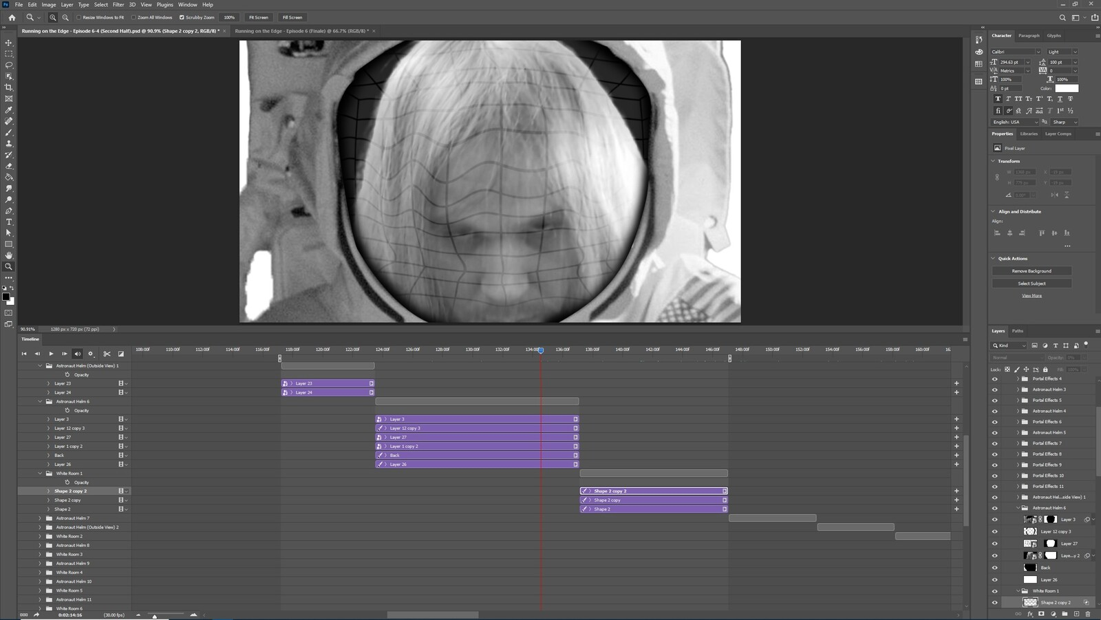 """The """"2020: A Time Oddity, Part 6"""" visual effect within Photoshop video editor"""