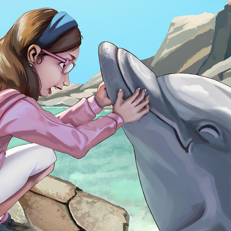 The kid who speaks DOLPHIN